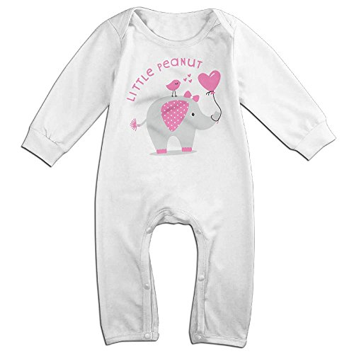 Mrei-leo Newborn Baby Long Sleeve Jumpsuit Elephant Little Peanut Infant Long Sleeve Romper Jumpsuit