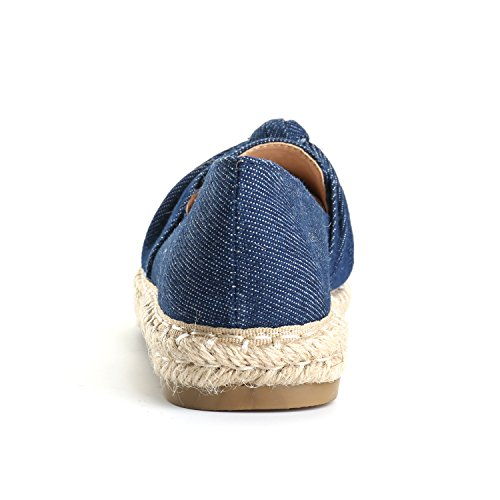 Alexis Leroy Women's Closed Toe Slip-On Bow Espadrille Loafer Flats Dark Blue40 M EU/9-9.5 B(M) US by Alexis Leroy (Image #4)