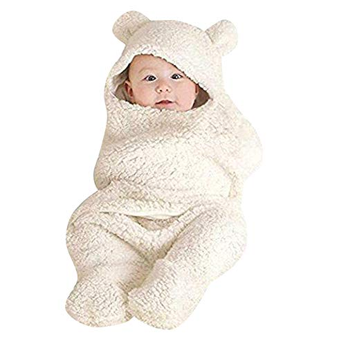 Armoire Cotton (ZHANGVIP Wrap for Newborn Infant Baby,Cotton Receiving White Sleeping Blanket Infant Boy Girl Swaddle Clearance (0-12M, White))