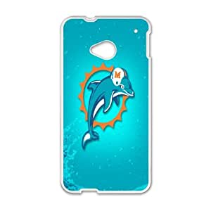 Miarei Dolphins HTC One M7 Cell Phone Case White zprl