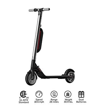 Ninebot KickScooter ES4 by Segway w 2nd Battery- Pro Electric Kick Scooter for Adults Offroad- Mobility Folding e Scooter Upgraded Motor