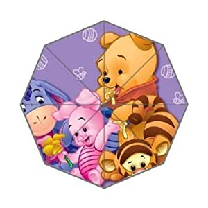 RainbowRain Cartoon Cute Bear Winnie Custom Foldable Umbrella DIY Umbrella