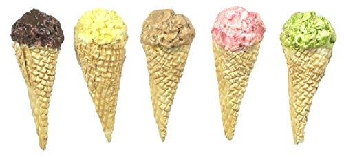 Falcon Miniatures Dollhouse Minaiture Five Ice Cream Cones by