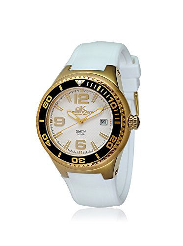 Adee Kaye Women's Yatch 39.7mm White Ceramic Band & Case Quartz Analog Watch ak2230SS-LG/WT