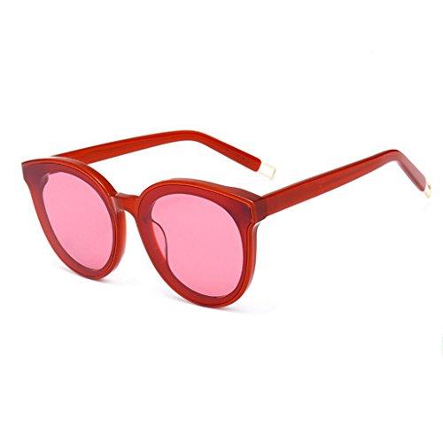 Redondas Sol Marrón Negro Frame Peter Hombres Gafas de Color Rojo Moda Plate HLMMM Coreana Sol Gafas de Mujer GM wEqxpTgSz