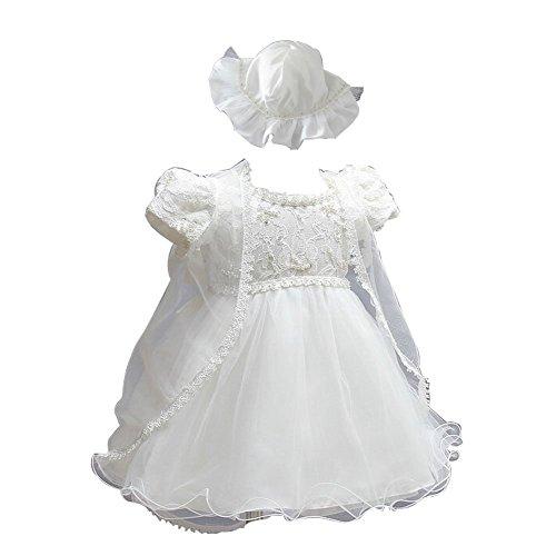 ZAMME Infantil del bebé de la princesa del vestido del tutú bautismo Ropa 0-24 M