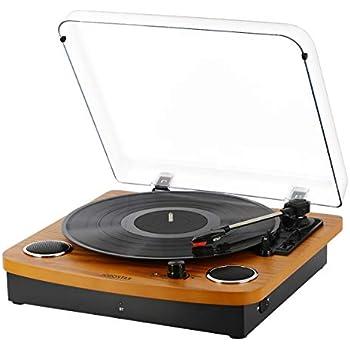 Amazon.com: LP&No.1 Retro Belt-Drive Bluetooth Turntable ...