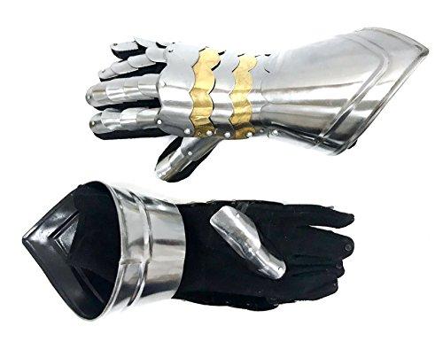 Armor Medieval Gauntlet Pair III - Medieval Armor Large - Silver - Medieval Gauntlets