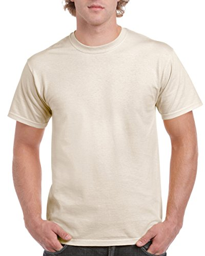 Gildan Men's Ultra Cotton T-Shirt, Natural, XL