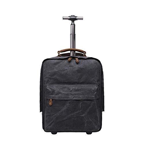 Bagaglio Impermeabile Di All'aperto In Zaino Viaggio Tela Olio Rod Tie Black Multifunzione Maschile Retro Penao 0X4wqgq