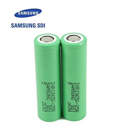 2pcs Samsung INR18650-25R 18650 2500mAh 3.7v Li-ion 20A discharge Authentic Grade-A Guarantee