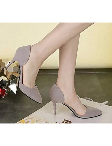 GGX/Damen Heels Sommer Heels Fleece Casual Stiletto Heel andere schwarz/rot/grau gray-us5 / eu35 / uk3 / cn34