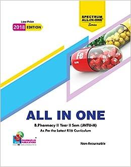 Amazon in: Buy B Pharmacy II Year II Sem All-in-One (JNTU-H