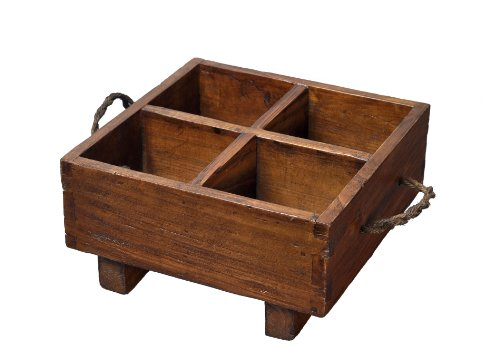 Antique Revival Vintage-Style Small Wooden Milk Crate, Natural