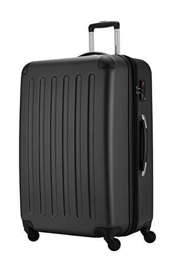 HAUPTSTADTKOFFER - Koffer Spree Trolley Gepäck Hartschale, 75 cm, 128 Liter, matt, Schwarz