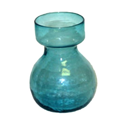 HomArt Recycled Glass Bulb Vase, Turquoise, 1-Count