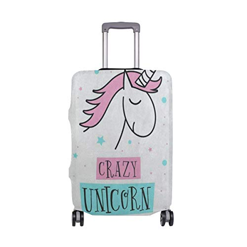Suitcase Cover Cartoon Crazy Unicorn Star Luggage Cover Travel Case Bag Protector for Kid Girls