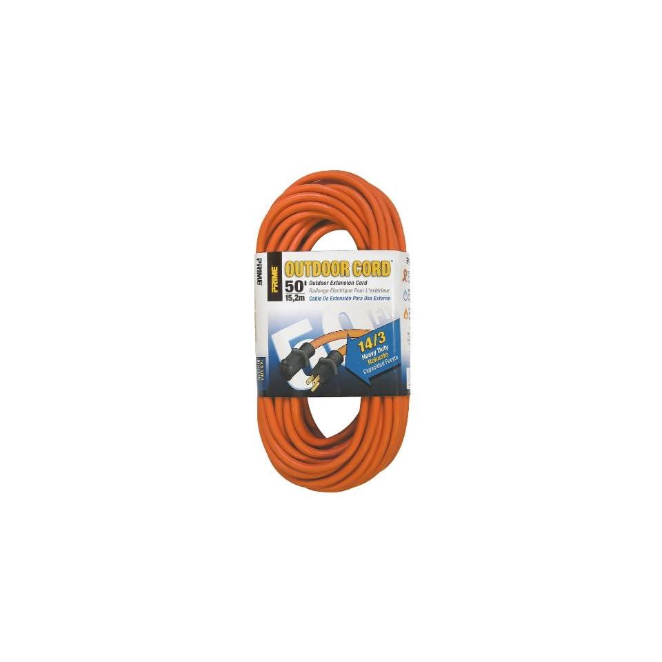 Prime Wire & Cable EC501730 50 Foot 14/3 SJTW Heavy Duty Outdoor Extension Cord, Orange