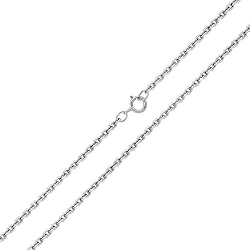 CloseoutWarehouse Sterling Diamond Cut Cable Rolo Chains 0.9mm - 0.9 Mm Polished Diamond