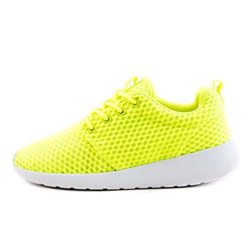 Laufschuhe Neongrün Herren Sport Turnschuhe Sneaker Schnür Unisex Freizeit Fitness Damen EOanqfWF