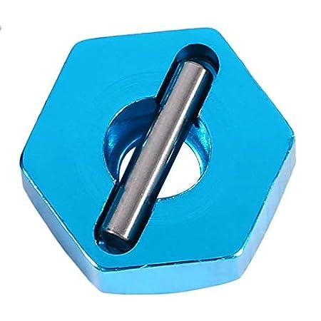 Yosoo Health Gear Adaptador hexagonal para rueda de metal RC de 12 mm adaptador hexagonal para coche RC con pernos y tornillos para piezas de repuesto RC 4 unidades