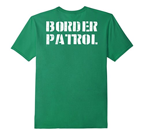 Simple Costumes For College Students (Mens Border Patrol Shirt Lazy Halloween Costume (Design On Back) Small Kelly)