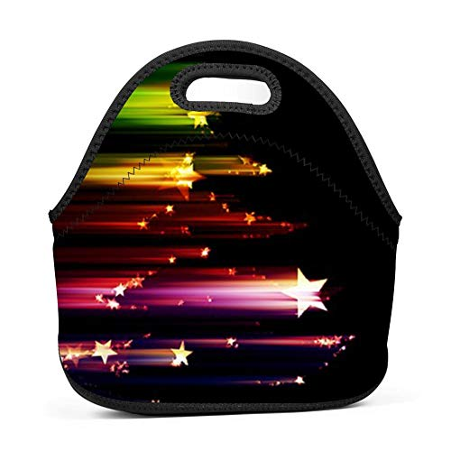 f4df8b5eebd4 dreambest Color Meteor Insulated Neoprene Lunch Bag for Women, Men and Kids  Lunch Bag Handbag for Work and School