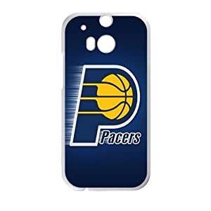 Indiana Pacers NBA White Phone Case for HTC One M8