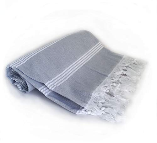 Layla's Pestemal Turkish Beach Towels, Set of 2 Organic Turkish Bath Towels, Turkish Fouta Yoga Towel