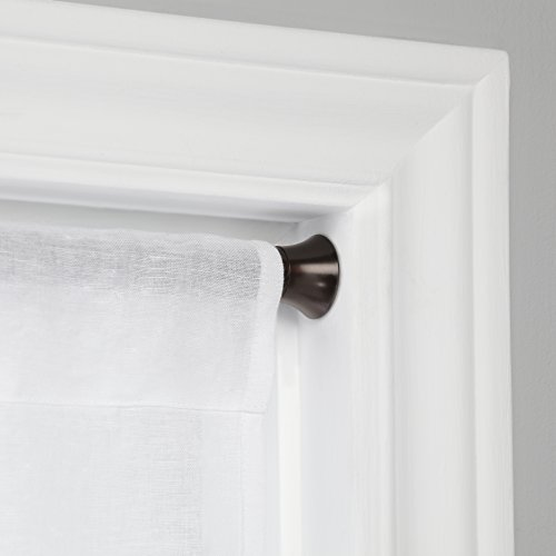 Umbra Chroma Tension Rod – Adjustable Tension Curtain Rod for Curtains and Sheer Curtains, 36 to 54 Inches, Auburn Bronze
