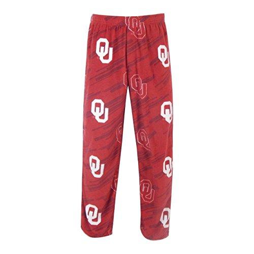 Concept Sport Oklahoma Sooners Adult NCAA Grandstand Pajama Pants - Crimson, Small (Pajama Pants Lounge Sooners)