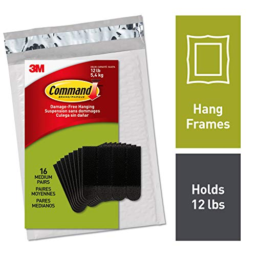 - Command Picture Hanging Strips, Decorate Damage-Free, Easy to Open Packaging (PH204BLK-16NA)