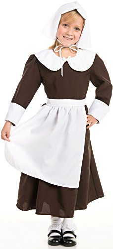 (Kidcostumes Pilgrim Girl With Bonnet (Medium 6X-8)