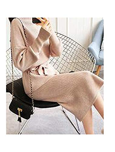 - This is not a harm. Upgrade Women Long Sleeve Office Wear Casual ullover Knitted Dresses,Khaki,One Size