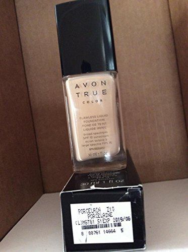 True Color Liquid Foundation - Avon TRUE Color Ideal Flawless Liquid Foundation broad spectrum SPF 15 sunscreen PORCELAIN