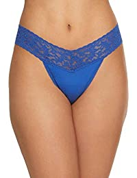 Organic Cotton Original Rise Thong with Lace