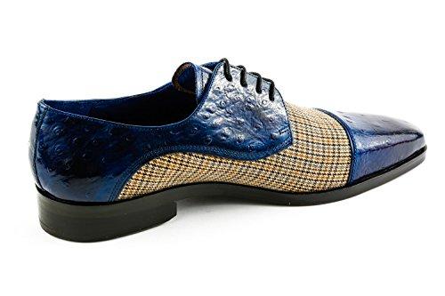 Melvin & Hamilton MH15-1125, Chaussures de Ville à Lacets pour Homme Bleu Bleu