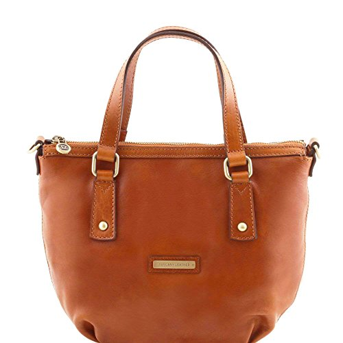 TUSCANY LEATHER, Borsa a spalla donna Beige beige Taille Unique