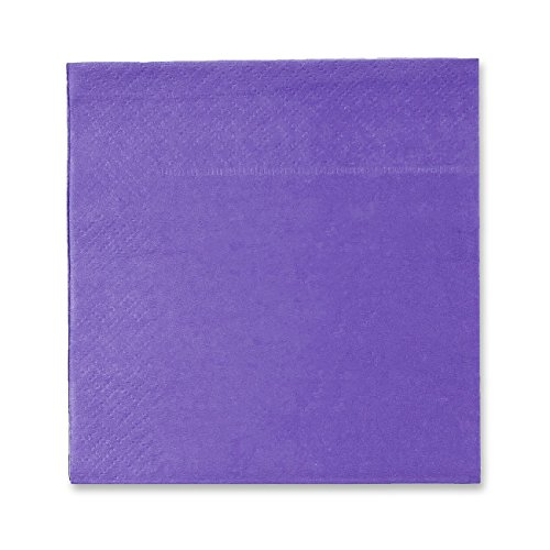 Cocktail Napkins - 200-Pack Disposable Paper Napkins, 2-Ply, Ultra Violet, 5 x 5 Inches Folded ()