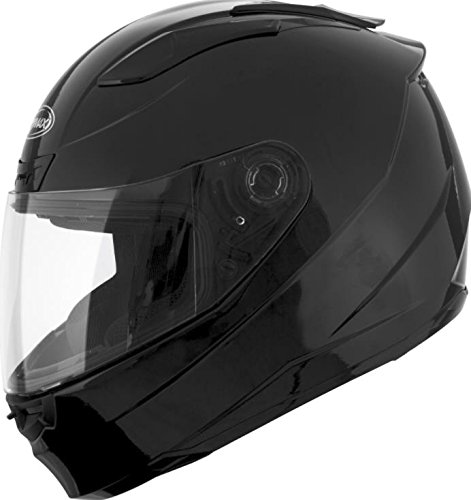 Black//X-Large G1880027 GMAX FF-88 Adult Solid Full-Face Motorcycle Helmet