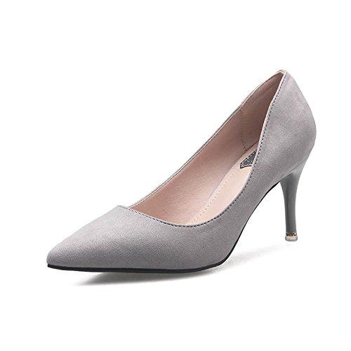 il col una tacco damigella con inverno scarpe punta Tacchi primavera Autunno Gray Jqdyl con d'onore da basso metà singola scarpe e femminile la scarpa alti alto 7cm con O8x0qIIT6