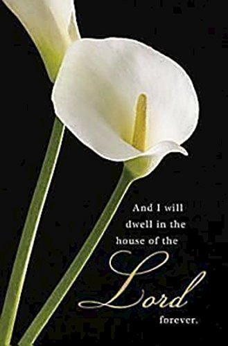 Calla Lilies Funeral Bulletin (Pkg of 50) by Not Available - Lilies Bronze Calla