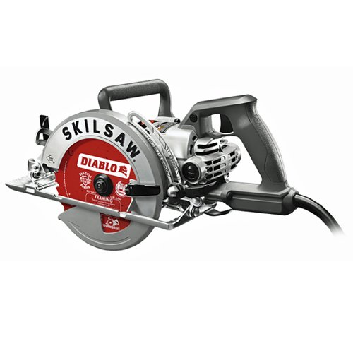 SKILSAW SPT77W-22 7-1/4 in. Aluminum Worm Drive Circular Saw with Diablo Carbide Blade