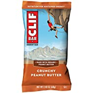 CLIF BAR - Energy Bars - Crunchy Peanut Butter - (2.4 Ounce Protein Bars, 18 Count) (Packaging May Vary)