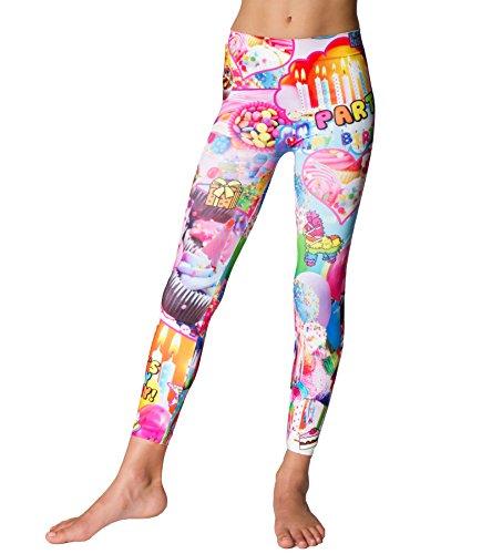 Girls (7-10) Dani Kates It's My Birthday Leggings One Size Print -