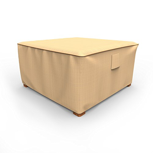 Budge P4A02TNNW1 Square Table Ottoman Rust-Oleum NeverWet-Patio Furniture Cover, 16