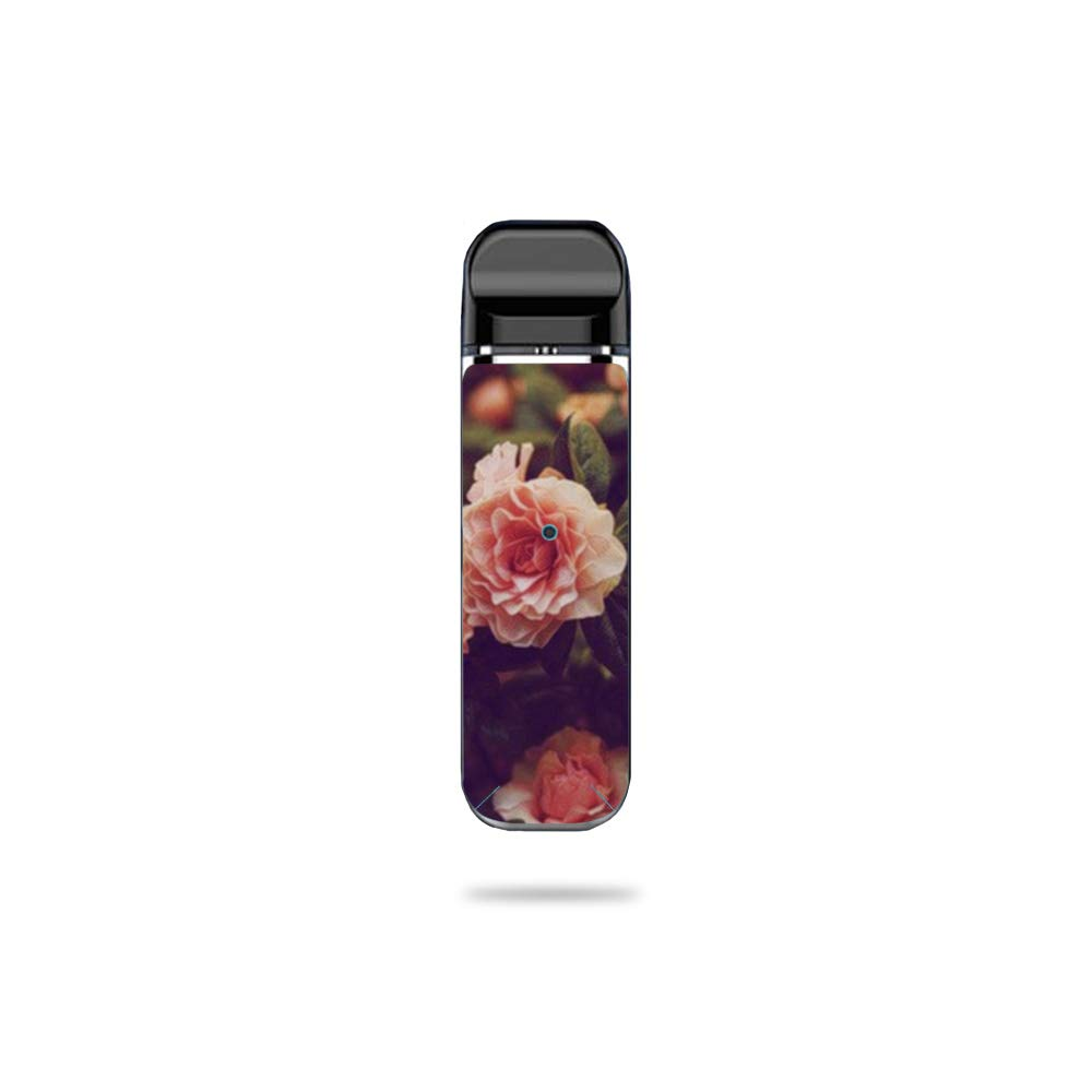 MightySkins Skin Compatible with SMOK Novo - Vintage Roses | Protective, Durable, and Unique Vinyl Decal wrap Cover | Easy to Apply, Remove, and Change Styles | Made in The USA by MightySkins