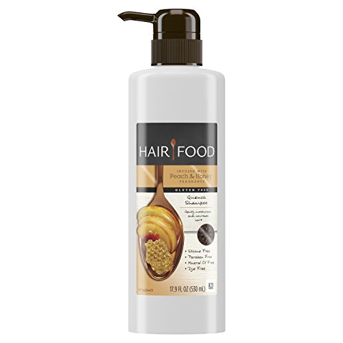 Hair Food Gluten Free Quench Shampoo Infused with Peach & Honey Fragrance, 17.9 fl oz