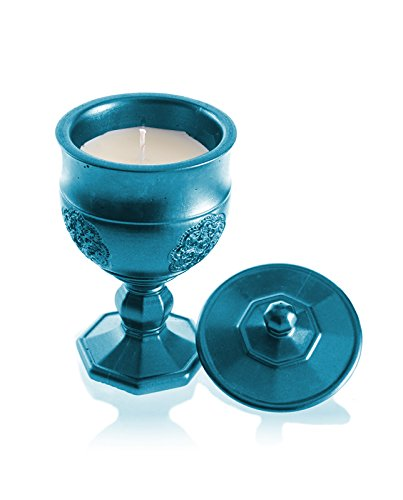 Candellana Candles Candlefort Candles Concrete Graal Blue Metallic, Scent: for Her
