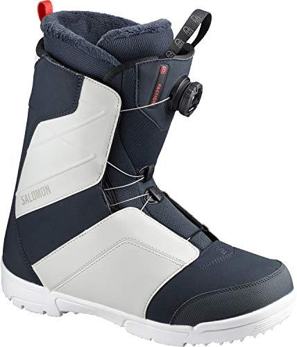 Salomon Faction BOA Snowboard Boots Mens Sz 11.5 Navy/Grey